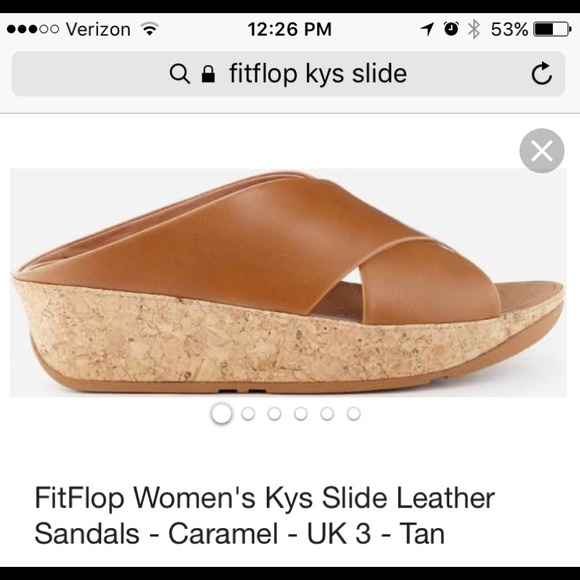 121b9090eed Fitflop Shoes - Fitflop Kys caramel slide with cork sole. Size 10